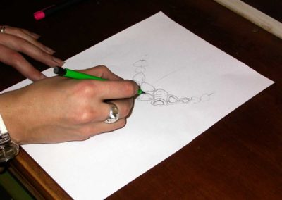 """Les motifs relativement simples seront exécutés à """"la main""""."""